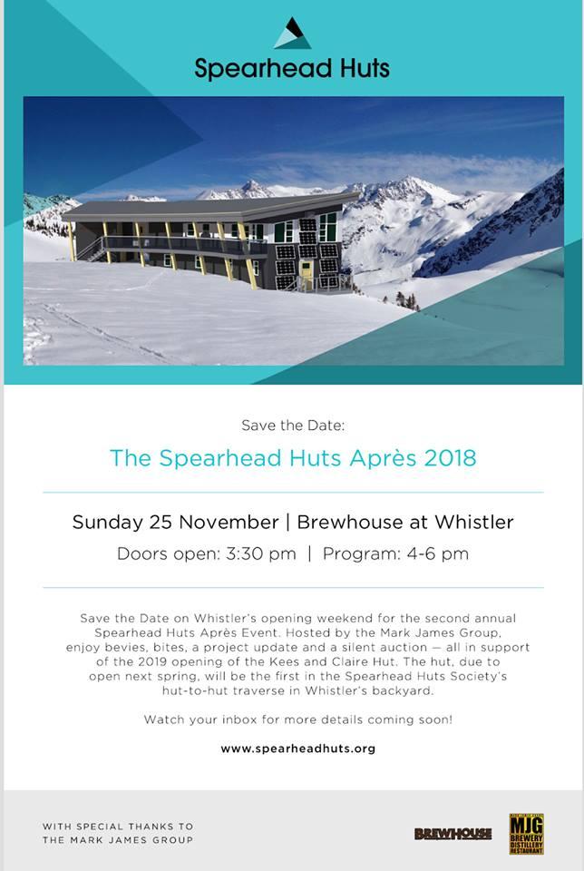 Spearhead Huts Society Apres